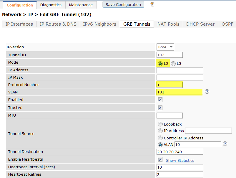 Configuring GRE Tunnels