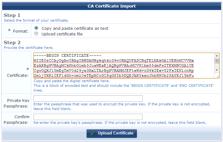 Installing a Certificate Authority\'s Certificate