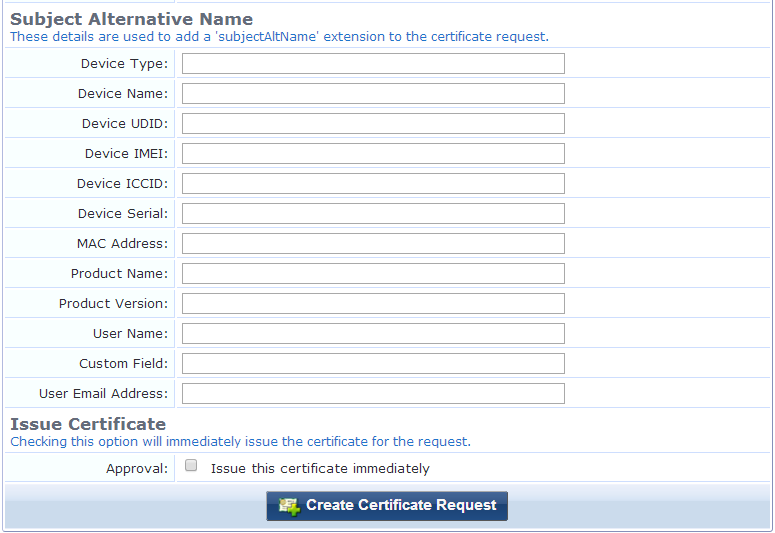 Client As The Certificate Type Subject Alternative Name Area Is Also Included On Request Settings Form Can Be