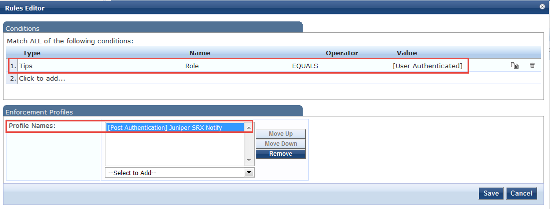 Integrating ClearPass with Juniper Networks SRX