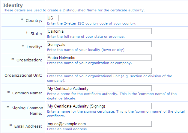 Creating a New Certificate Authority