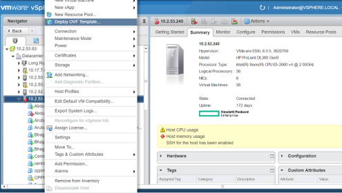 Vmware Template | Deploy The Clearpass Image On A Vmware Esxi Server