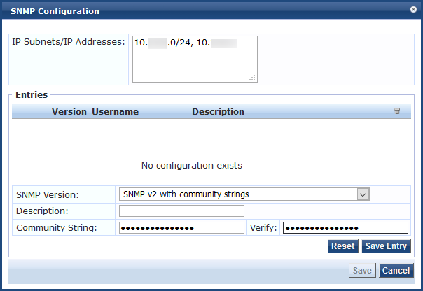 Configuring SNMP, SSH, and WMI Credentials