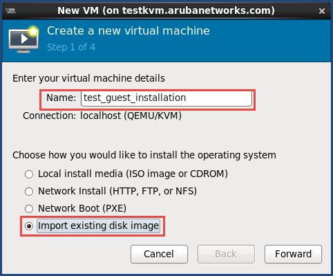 Installing ClearPass on a CentOS KVM Virtual Appliance