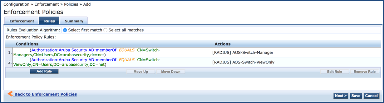 Switch Management Using RADIUS
