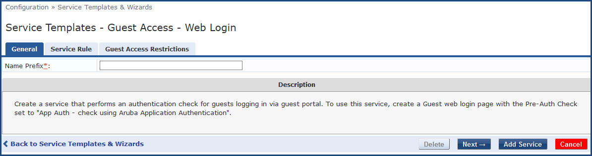 Authentication in Guest Web Login Using OnGuard Native