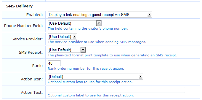 Editing Receipt Actions – Delivery Receipt Form Template