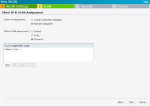 Configuring VLAN Settings for a WLAN SSID Profile