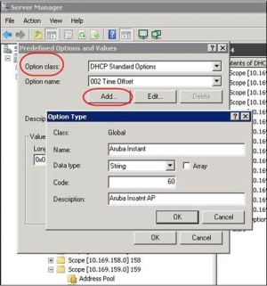 Configuring for AirWave Discovery through DHCP