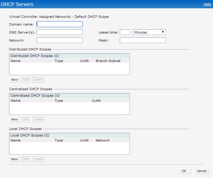 Configuring the Default DHCP Scope for Client IP Assignment