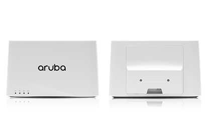 Front and back view of the Aruba 203R Wi-Fi Access Point