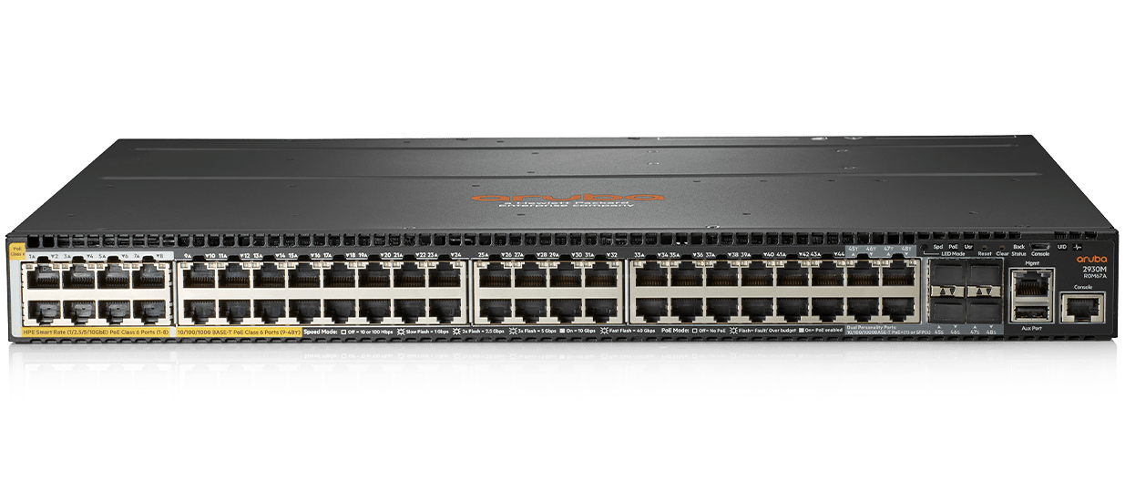 Details and specifications for the Aruba 2930M Series