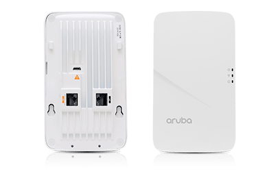 Front and back view of Aruba 303H access point