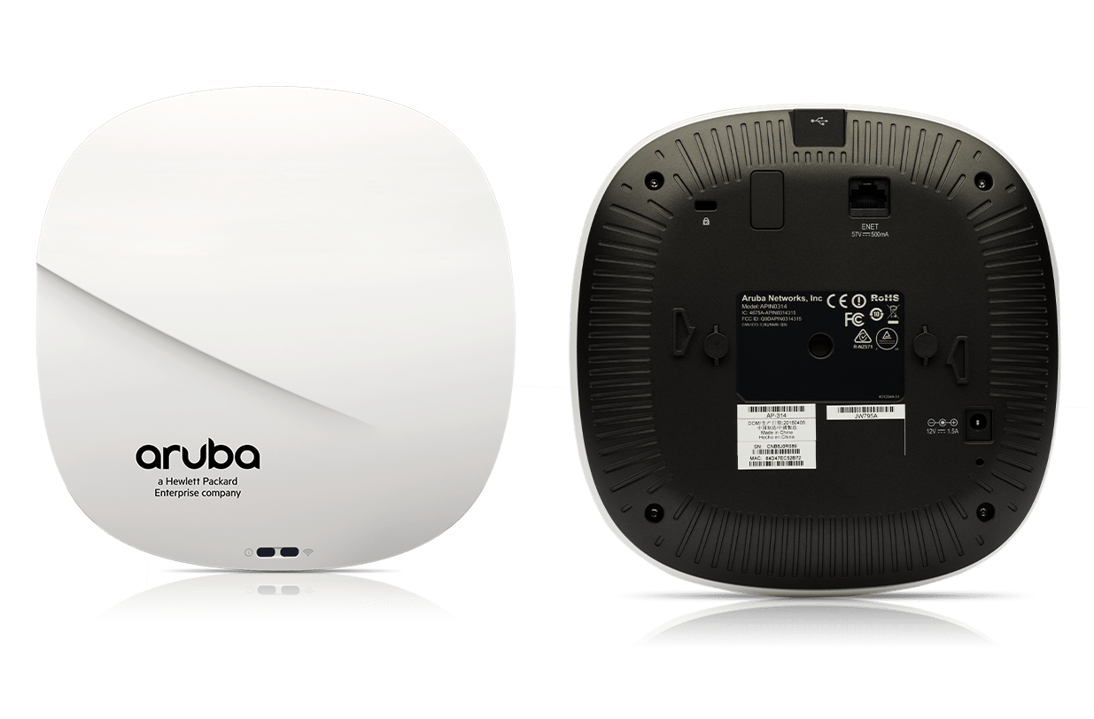 Details and specifications for the Aruba 310 Series APs