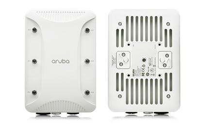 Top and bottom views of the Aruba 318 Access Point