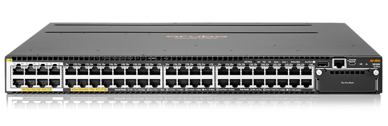 Details and specifications for the Aruba 3810 series