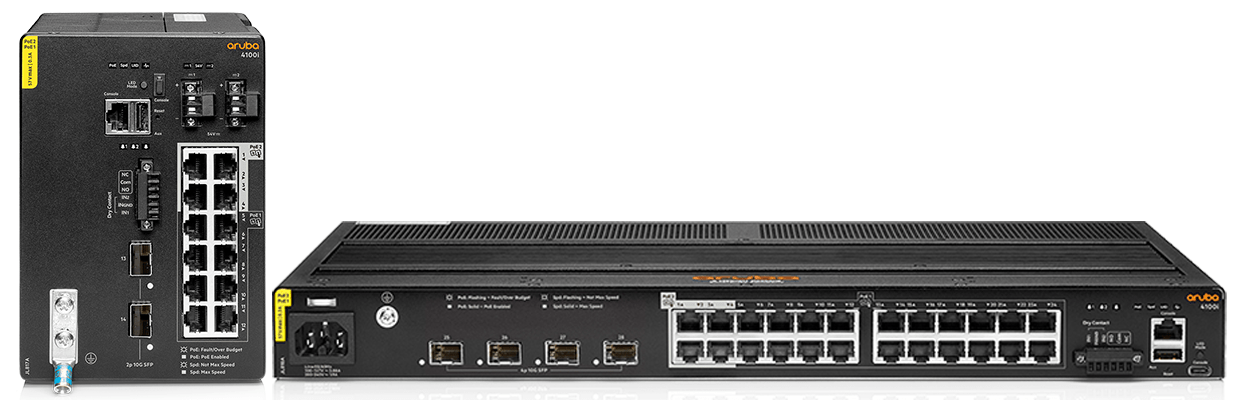 Details and specifications for the Aruba CX 4100i Switch Series