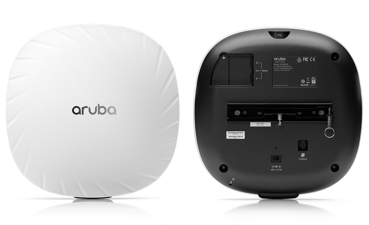 Side by side image of front and back of the 530 Access Point