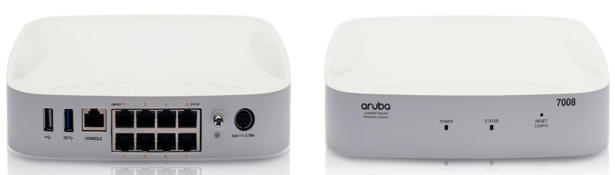 Details and specifications for the Aruba 7000 Series