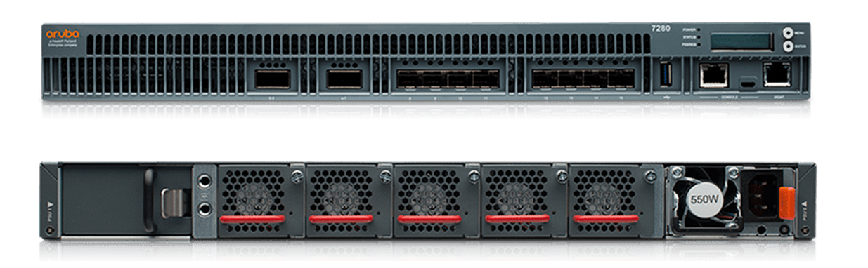 Details and specifications for the Aruba 7200 Series Mobility Controllers