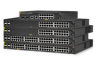 Stack of Aruba 6100 switches