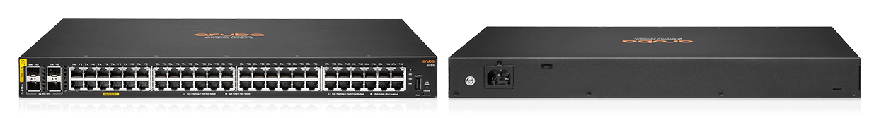 Details and specifications for the Aruba CX 6100 series