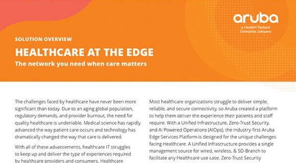 Healthcare at the Edge