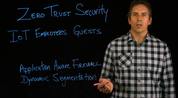 Zero Trust Security lightboard video