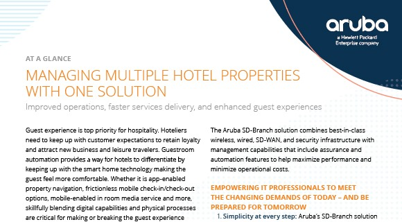 SD-Branch in Hospitality: Managing Multiple Hotel Properties with One Solution