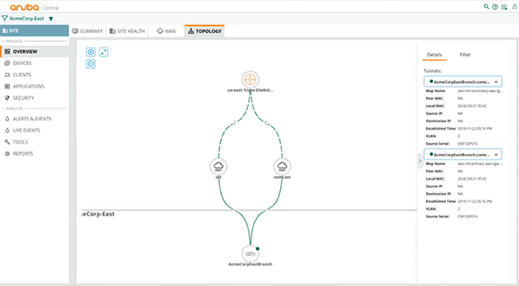 Using Aruba SD-WAN-with AWS Transit Gateway Network Manager