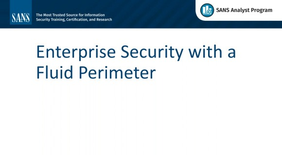 Enterprise Security with a Fluid Perimeter