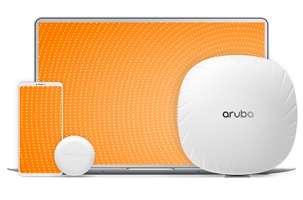 Aruba access points next to mobile devices