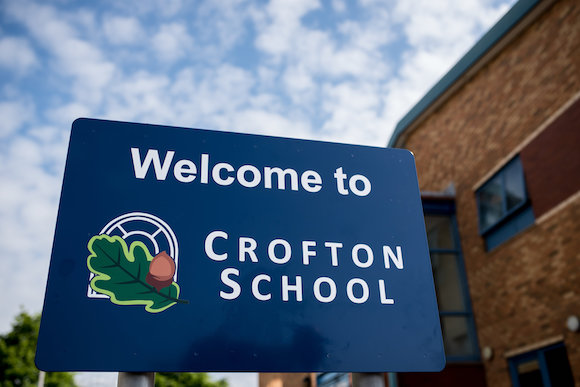 Facade of Crofton School