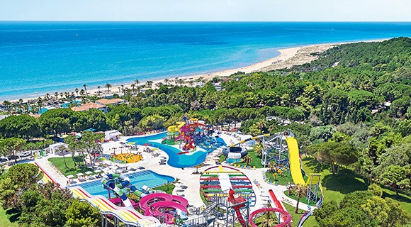 Rivera Olympia resort and aqua park rides