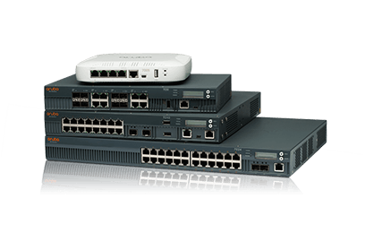 Stack of Aruba 7000 controllers and gateways