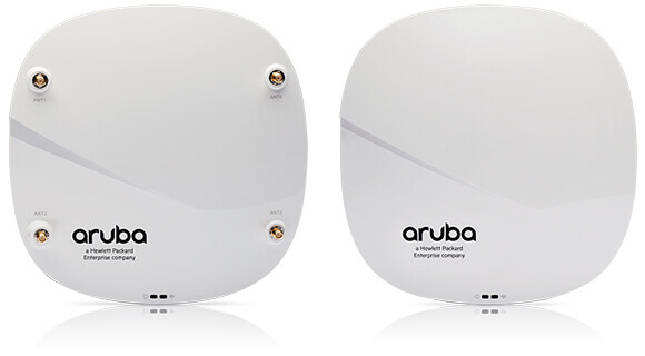 Front and back of an Aruba access point