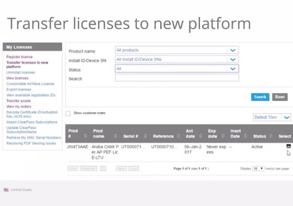 The HPE My Networking Portal: Transferring your Aruba licenses to the New Platform