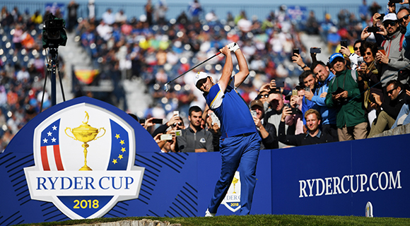 Golfer takes a swing at Ryder Cup Europe