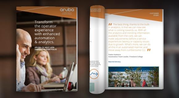 Aruba CX eBook: Transform the operator experience with enhanced automation & analytics.